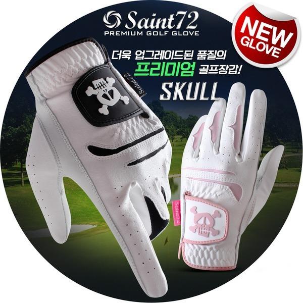 세인트72 SAINT72 스컬 반양피 골프장갑(1장)