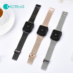 COTEetCl 애플워치 전용 메탈 버클 스트랩 밴드 시계줄 1 2 3 4 세대 호환 38/42/40/44MM