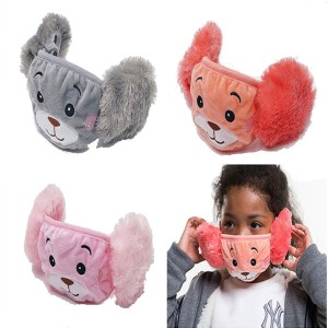마스크+귀마개 털마스크 털귀마개 어린이 마스크 방한