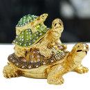 황금 거북이장식품 3단보석함(대) 인테리어 개업선물