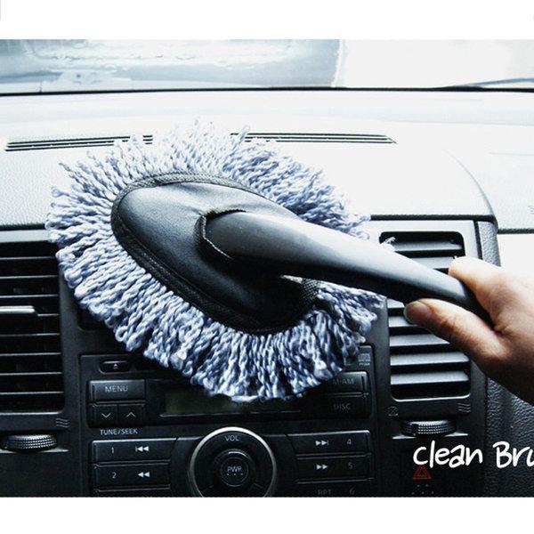 차량용 내부청소 브러쉬 차량용 실내 먼지털이 1+1