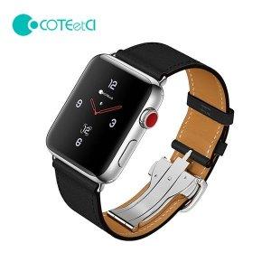 COTEetCl 애플워치 전용 원터치 버클 가죽 밴드 스트랩 1 2 3 4 5세대 호환