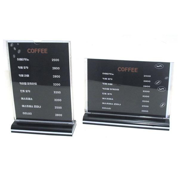 A5 A4 아크릴케이스 T형 Y형  pop꽂이 메뉴판 가격