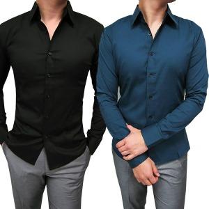 슬림핏 면스판셔츠 다양한컬러/남자셔츠 긴팔셔츠