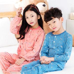 편안한 아동 커플잠옷 오마이러브 상하 아동 잠옷