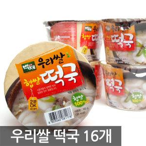 백제 우리쌀 즉석떡국 163g x 16개입 /무료배송
