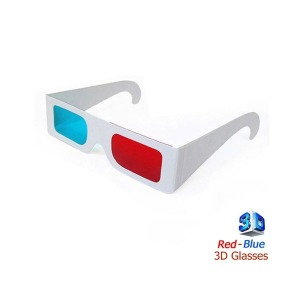 3D 입체안경 영상 영화감상 적청 안경만들기 종이형