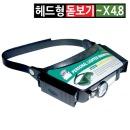 헤드형 모자 휴대용 LED조명 돋보기안경 루페노안밴드