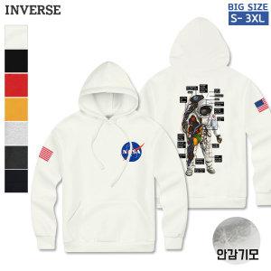 CTS-GH12 남여공용 NASA 기모후드티셔츠 긴팔커플티