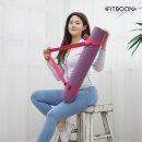 요가 스트랩 벨트 (핑크) 요가매트 가방 요가용품