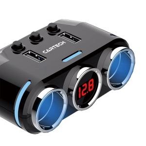 차량용 멀티 시거잭 소켓 고속 급속 충전기 USB CT-405