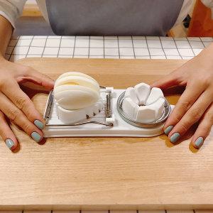 일본 2웨이 에그 커터기 계란 슬라이서 - 상품 이미지