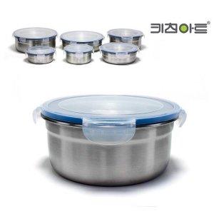 키친아트 피앙세 스텐반찬통 원형2호(450ml)