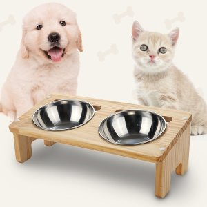 강아지 밥그릇 무라무라 원목식탁(식기 미포함)