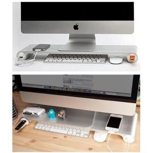 모니터 노트북 알루미늄 맥 USB 충전 거치대 받침대