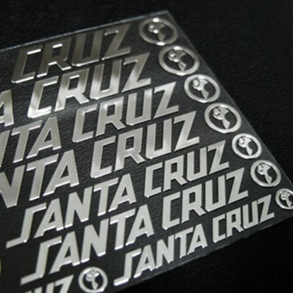 SANTACRUZ 스노우보드 금속 튜닝스티커 산타크루즈