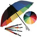 무지개 일자/곡자 자동장우산 선물용/답례품 인기상품