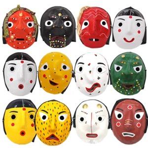 수공예 종이 전통탈 탈춤 한국가면 양반 하회탈