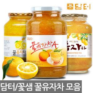 꿀유자차 1kg~2kg/꽃샘/생강차/레몬/대추차/율무차