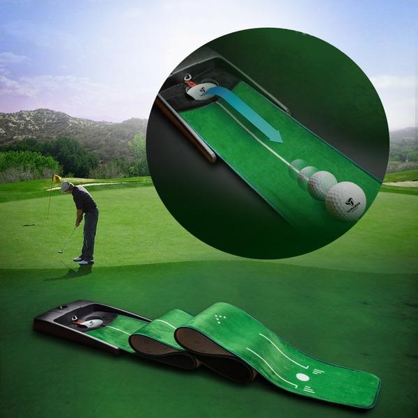 오토리턴 퍼팅연습기 골프연습기 골프매트 골프용품