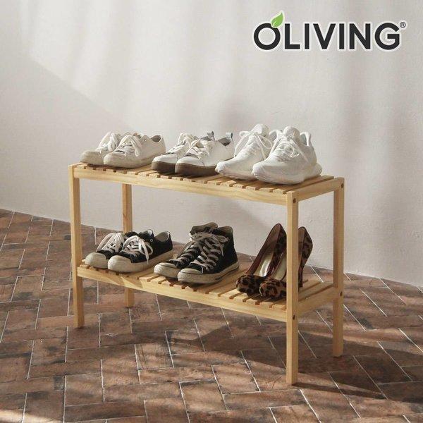 원목 벤치형 신발장 2단 800 /신발정리대/수납선반