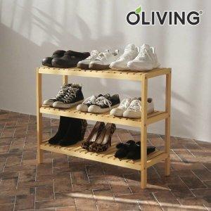 원목 벤치형 신발장 3단 800 /신발정리대/수납선반