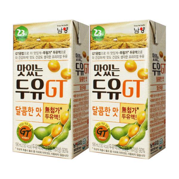 GT두유 달콤한맛 190ml x 64팩 / 선물용 두유