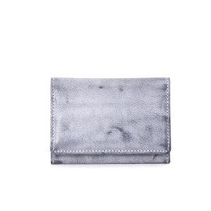 이태리 파라핀 왁싱 슬림 명함지갑(네이비)w36091