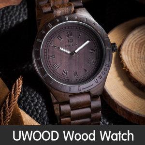 UWOOD 원목 나무 손목 시계 남성 럭셔리