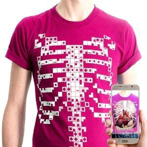 증강현실/가상현실 인체 교육용 증강현실(AR) 티셔츠