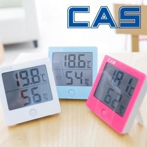 카스 디지털 온습도계  TE301 화이트 핑크 온도계