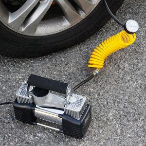 차량용 에어 컴프레셔 12V 타이어 튜브 공 공기주입