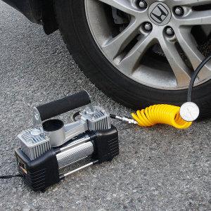 차량용 에어컴프레샤 12V 휴대용 컴프레셔 에어펌프