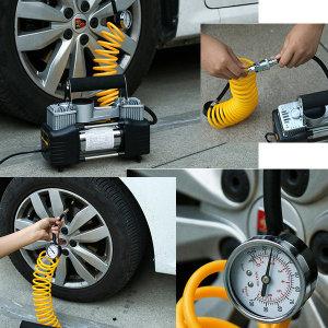차량용 12V전용 에어컴프레셔 펌프 공기주입기 휴대용