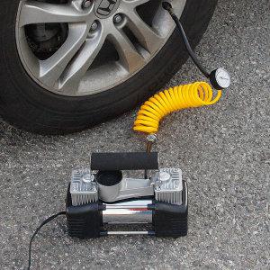 자동차 에어컴프레셔 타이어 공기 주입 에어펌프