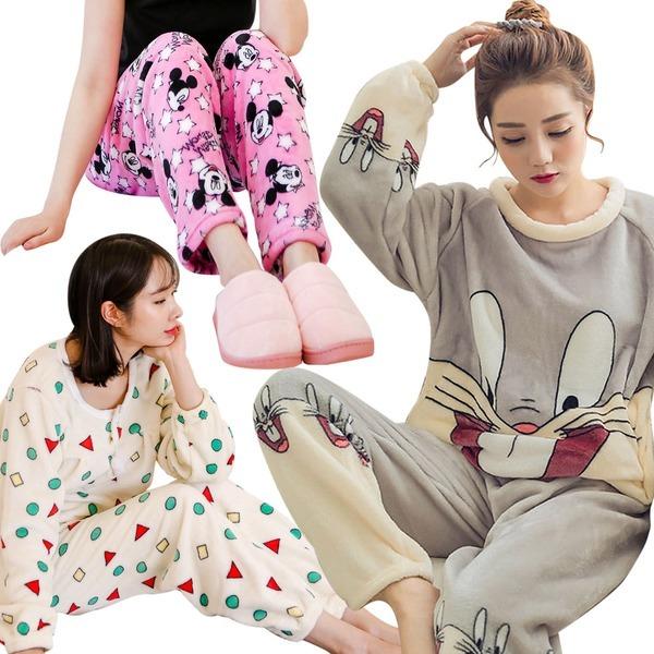 제이나나 포근~따뜻한 수면잠옷/파자마/바지