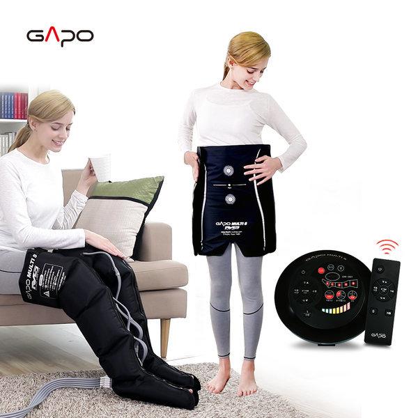 가포멀티5블랙 다리+허리 공기압마사지기 다리마사지기