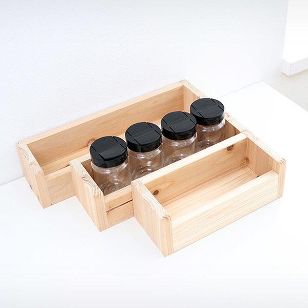 삼나무 원목 양념통 조미료통 4p세트