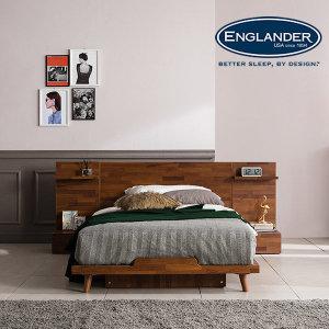 피칸 멀바우 평상형 침대 (DH 7존 독립매트-SS)