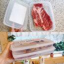 일본 냉장냉동 납작 밀폐용기 육류팩 1000ml