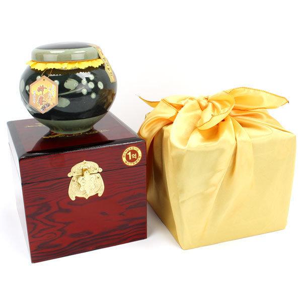 지리산벌꿀2.4kg 설 추석 명절 선물세트 흑상감+고가구