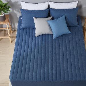 (보드래) 침대커버 누빔매트리스커버 패드 이불 베개