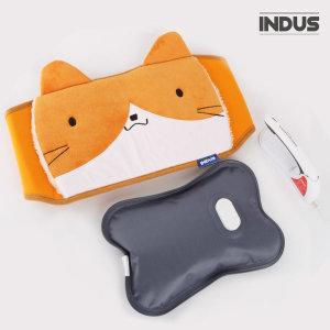 인더스 충전식 온수 찜질팩 고양이 IN-CO2