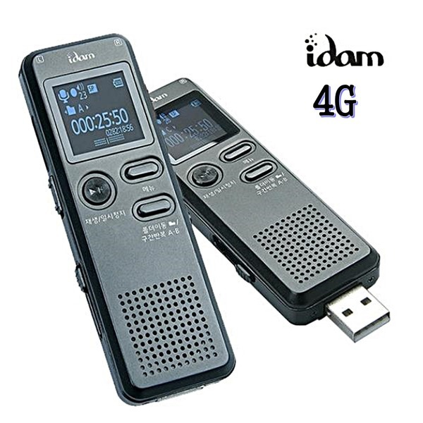 아이담테크 보이스레코더 R-S5 4G 고음질 14연속녹음