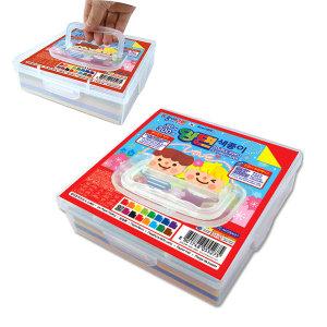 30색 300매 양면색종이 손잡이 투명 케이스 종이접기