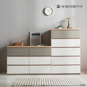 (빅세일20%쿠폰)벤티 광폭 빅 와이드 5단 서랍장