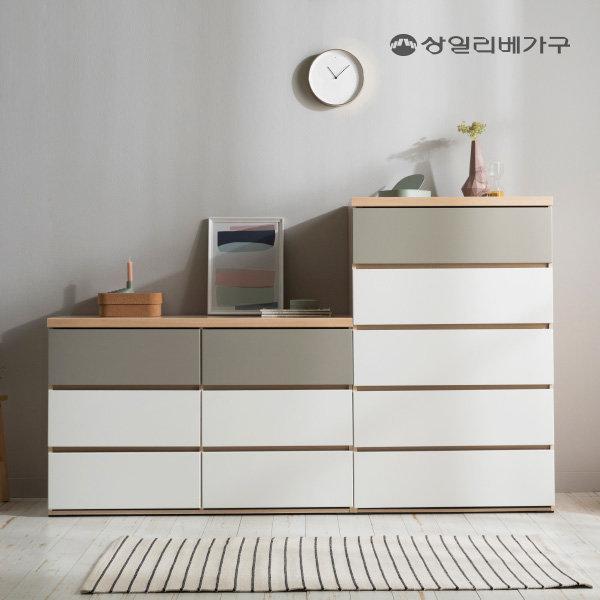(17%쿠폰) 벤티 광폭 빅 와이드 5단 서랍장 수납장