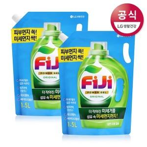 FiJi 파워젤 액체세제 오리지널 리필 1.5L 2개