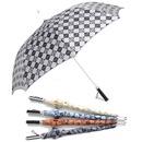 무크70늄체크실버 당일출발 선물용 장우산