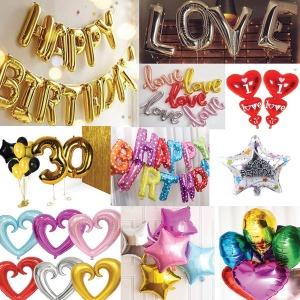이벤트 은박 풍선 생일 파티용품 숫자 알파벳 가랜드
